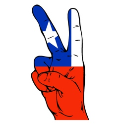 Peace Sign of Chilean flag vector