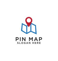 pin map logo design template vector image