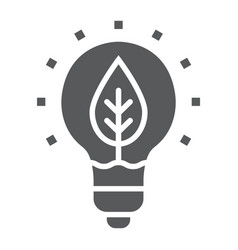 Power of nature glyph icon ecology and energy vector
