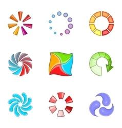 Preloader icons set cartoon style vector
