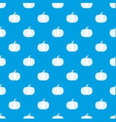 pumpkin pattern seamless blue vector image