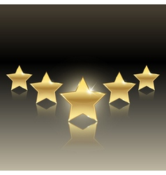 Rating of five stars vector