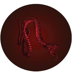 Red monster snake vector