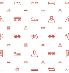 Road icons pattern seamless white background vector