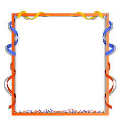 serpentine frame concept background realistic vector image