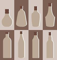 set alcohol bottle vector image
