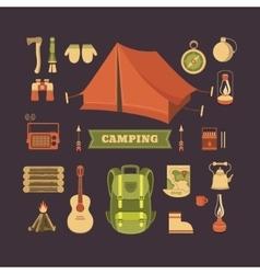 set camping vector image