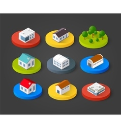 Set of isometric 3D vector image