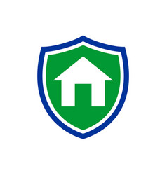 simple homeguard shield insurance symbol design vector image