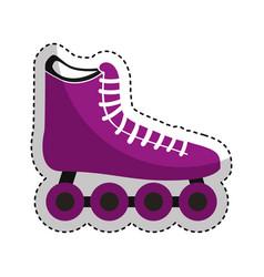 skate wheel sport equipment icon vector image