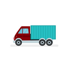 small cargo truck urban transport automobile vector image