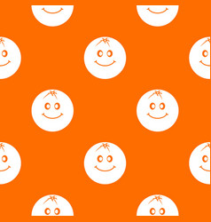 smiling fruit pattern seamless vector image