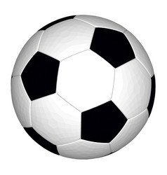 soccer ball black and white vector image