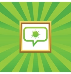Starburst message picture icon vector