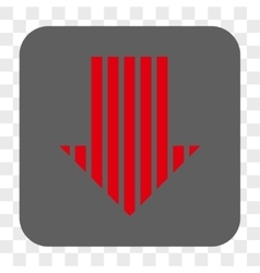 Stripe Arrow Down Rounded Square Button vector