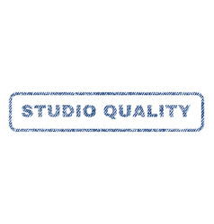 Studio quality textile stamp vector