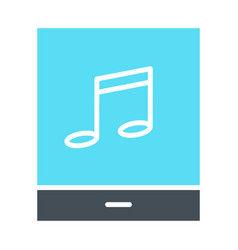 tablet with music note silhouette icon pictogram vector image