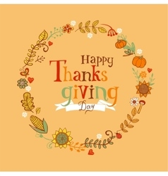 Thanksgiving festive frame vector image
