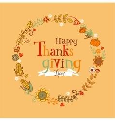 thanksgiving festive frame vector image