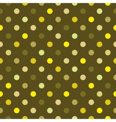 Tile green polka dots pattern or background vector image