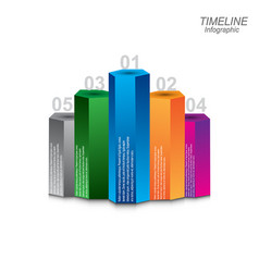 Time line infographic design template vector