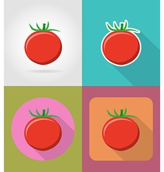 Vegetables flat icons 07 vector