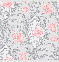 victorian lily pattern vector image vector image