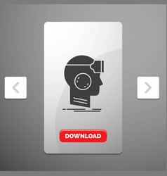 Vr googles headset reality virtual glyph icon in vector