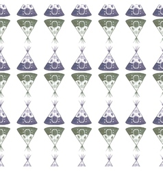 Watercolor seamless pattern with teepee on the vector image