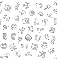 Web communication pattern black icons vector image