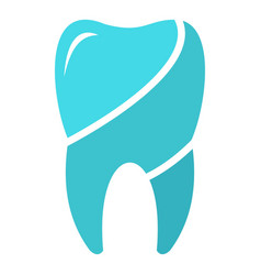 Wise tooth logo icon flat style vector