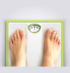 Woman weight loss vector