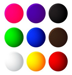 colorful balls web button icon on white background vector image vector image