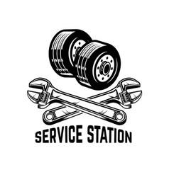 garage service station car repair design element vector image
