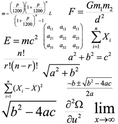 Mathematics and Physics formulas and expressions vector image vector image