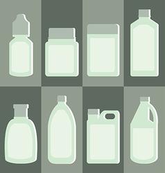 Set of medicine bottle vector image vector image