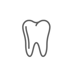 simple tooth line icon symbol and sign vector image