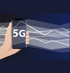 worlds fastest mobile internet 5g vector image vector image