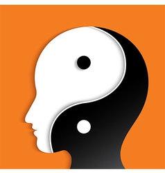 YinYang Head vector image vector image