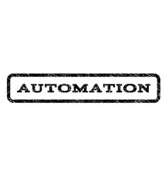 automation watermark stamp vector image vector image