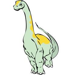diplodocus vector image vector image