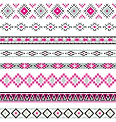 Seamless pattern tribal design Ethnic vector image vector image
