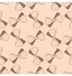 Seamless pattern with hand drawn bow Background vector image vector image