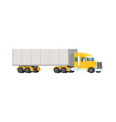 big semi truck concept logistic and delivery vector image