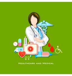 Healthcare and Medical Concept vector image vector image
