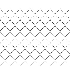 Old steel mesh metal fence seamless structure vector image vector image