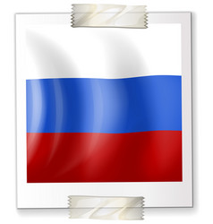 Russia flag on square paper vector