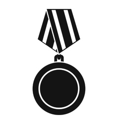 Winning medal icon simple style vector image