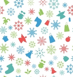 Christmas Seamless Pattern with Traditional vector image vector image