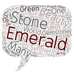 Gemstones 101 The Emerald text background vector image